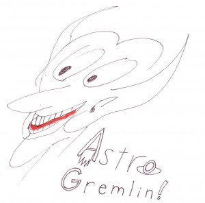 AstroGremlin stylized line drawing